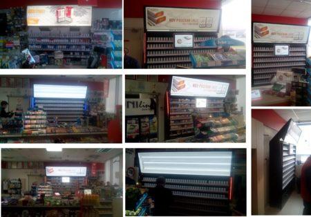 Advertising shelves